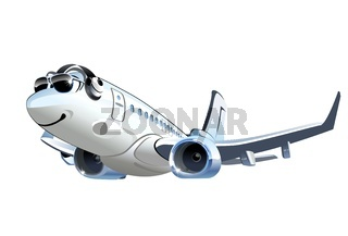Vector Cartoon Airliner