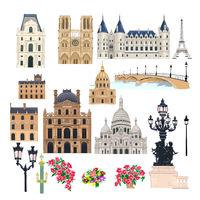 Paris buildings set