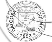 3D Seal of Catoosa County (Georgia state), USA. 3D Illustration.