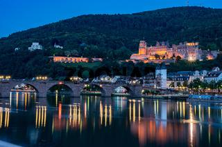 Heidelberg castle and neckar river, germany