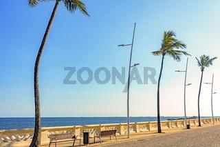 Wall of Oceanic Avenue in Salvador, Bahia bordering the sea