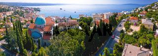 Aerial panoramic view of Opatija, tourist destination on Adriatic coast