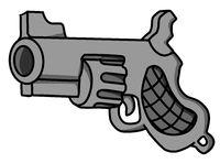 Revolver Gun Cartoon Design Element