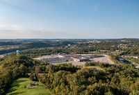 Aerial view of Morgantown Mall in West Virginia