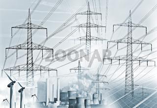 Stromerzeugung und Stromtransport