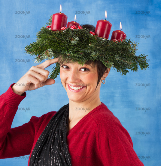Funny advent woman