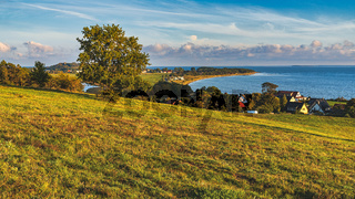 View over Klein Zicker, Mecklenburg-Western Pomerania, Germany