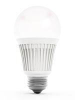 Energy efficient light bulb. 3d illustration