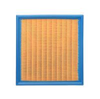 Top view of car air filter