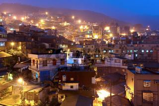 jiu fen village at night