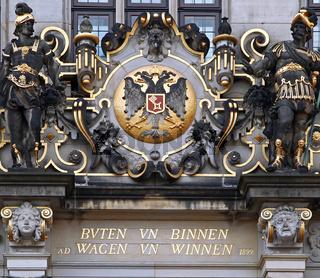 Haus Schütting - Sitz der bremischen Wirtschaft, Handelskammer Bremen, House Schuetting, chamber of commerce, Bremen