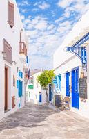 The town of Apollonia, Sifnos, Greece