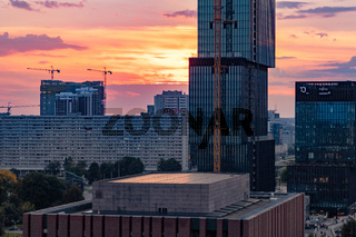 Katowice Landmarks Sunset