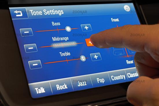 Setting of a modern car sound system