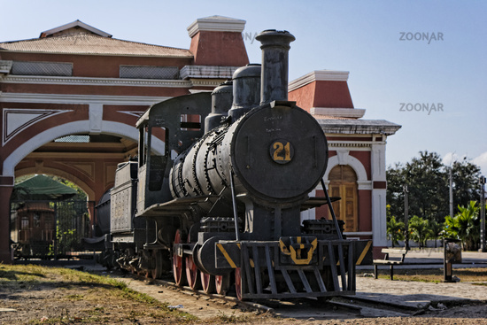 Steam locomotive, Granada, Nicaragua