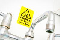 Hot water warning