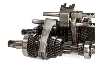 Transmission gears, isolated on a white background