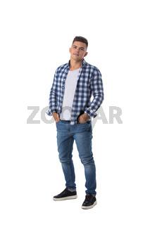 Full length portrait of casual man