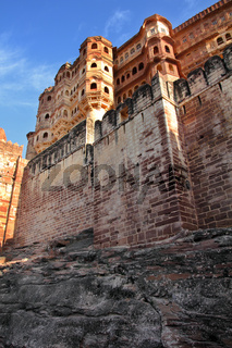Mehrangarh fort in Jodhpur India