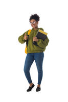 Female african american university student