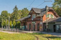 Tram stop of the former Waldbahn in Neu Isenburg, Germany .jpg