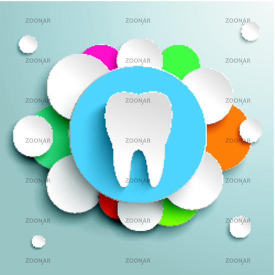 White Tooth Blue Orange Design