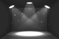 Empty space of the black box with light sources
