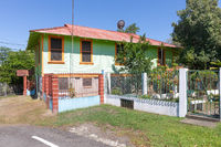 Panama Armuelles, typical renovated wooden house
