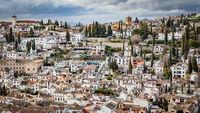 Panoramic view Granada in Spain