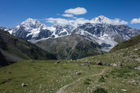 View onto the Ortler mountain range in South Tyrol