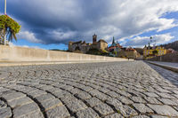Cobblestone in Loket - Czech Republic