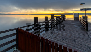 Sonnenaufgang in Bernried am Starberger See