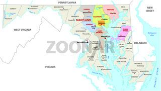 Baltimore metropolitan area vector map, Maryland, USA