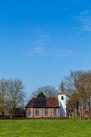 White protestant church in Groningen The Netherlands