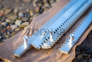 Steel gear racks. Accessories of automatic cantilever sliding gate.