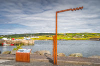 Portmagee Harbour sign and information board, Ireland