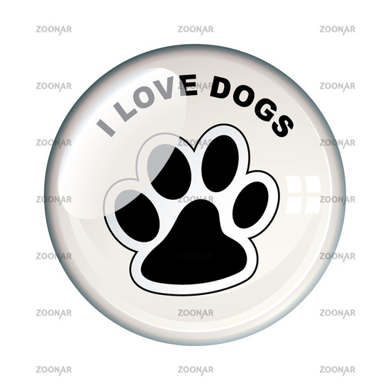 I love dogs badge