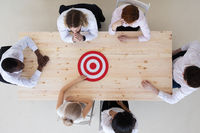 Goal Target at business meeting