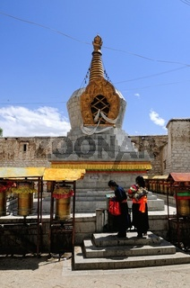 Stupa im Kloster Sera Lhasa Tibet China