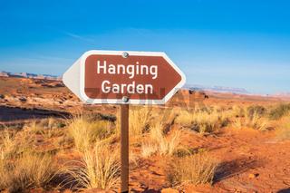 A description board for the trail in Glen Canyon NR, Arizona