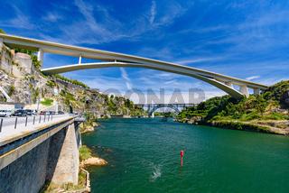Infante Bridge, a bridge across the Douro River in Porto, Portugal