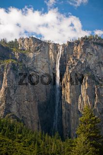 Bridalveil waterfall, Yosemite National Park, California, USA