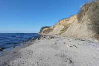 Steep coast in Grömitz, Baltic Sea