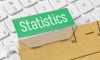 A brown file folder labeled Statistics