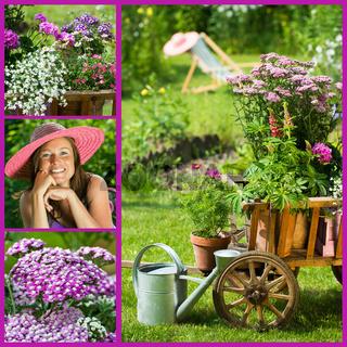 Sommergarten - Collage