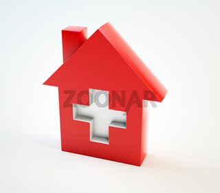 Domestic healthcare symbol