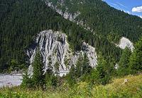 soil erosion near Boden in the Lech valley, Austria, Tyrol