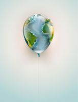 Balloon with a world map