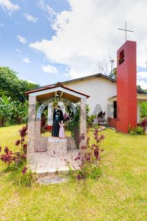Panama La Concepcion, San Vicente parish, gazebo with the statue of the saint
