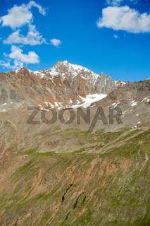 Der Sennkogel aufgenommen vom Hochjochhospitz, bei Vent im Ötztal, Österreich
